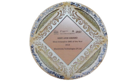Award for the most innovative SME of the year from Hannover Milan Fair and Indian Academy of Management, 2013