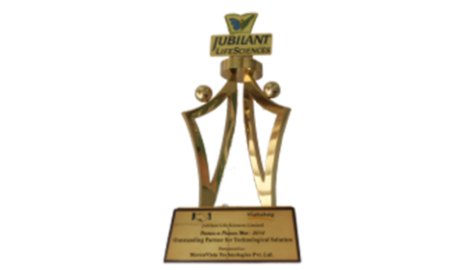 Outstanding Supplier of the year award from Jubilant Life Science, 2010